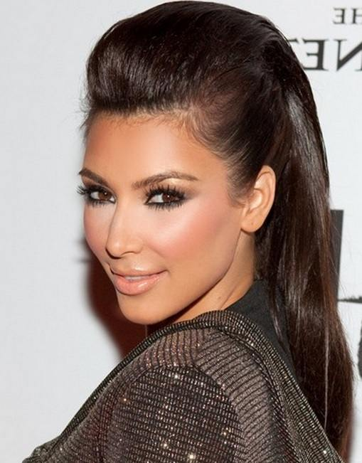 Kim Kardashian's Punk Bouffant Hairstyle