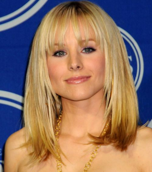 Kristen Bell's Medium-Length Blonde Hair With Bangs