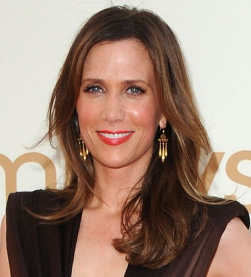 Kristen Wiig's Long Brown Hair In Formal Pretty Hairstyle