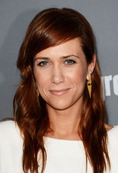 Kristen Wiig's Long Straight Red Hair With Side Bangs
