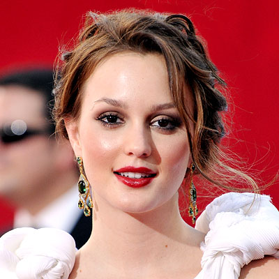Leighton Meester's Brown Hair In Romantic Pretty Formal Updo