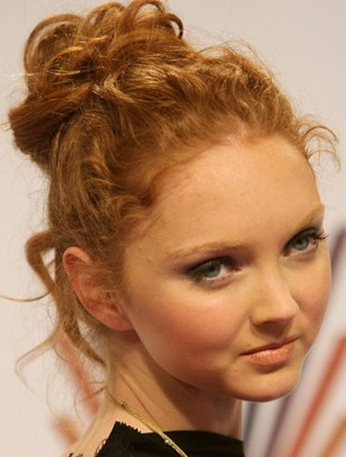 Lily Cole's Messy Updo