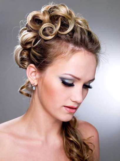 Curly Prom Updo With Ponytail Prom Wedding Formal Careforhair