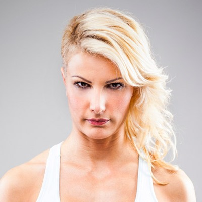 Long Blonde Undercut Hairstyle Casual Party Summer Beach