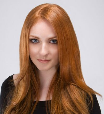 Long Straight Red Hair With Subtle Layers For Fall