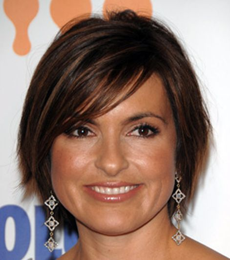 Mariska Hargitay's Straight Brown Hair In Short Bob Hairstyle