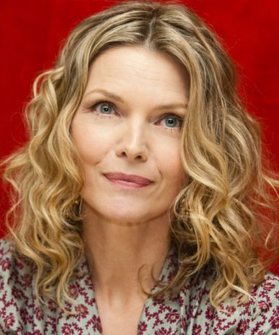 Michelle Pfeiffer's Medium-Length Curly Blonde Hair In Mature Hairstyle
