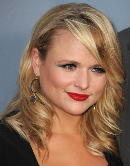 Miranda Lambert Big Blonde Curls In Opposite Directions From Face
