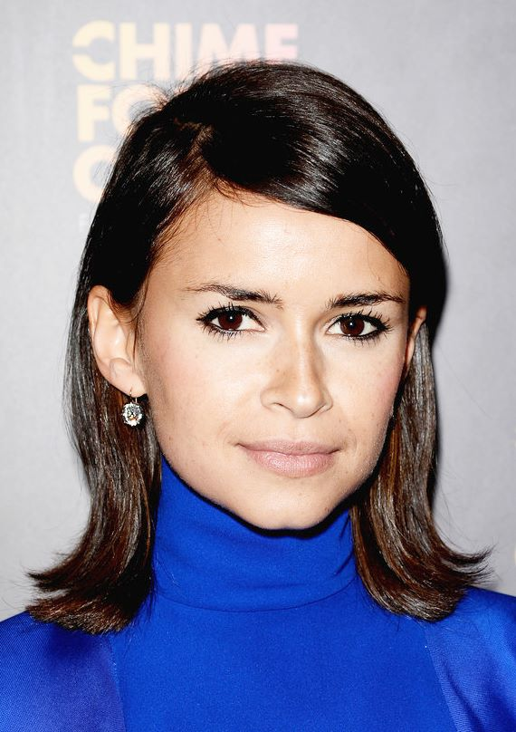 Miroslava Duma Looking All Retro Chic In A Shoulder Length Bob With Flipped Ends