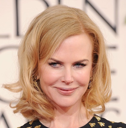 Nicole Kidman Blonde Hair In Cute Flirty Curly Hairstyle
