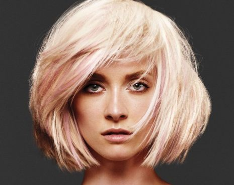 blonde chinlength bob party fall winter careforhair