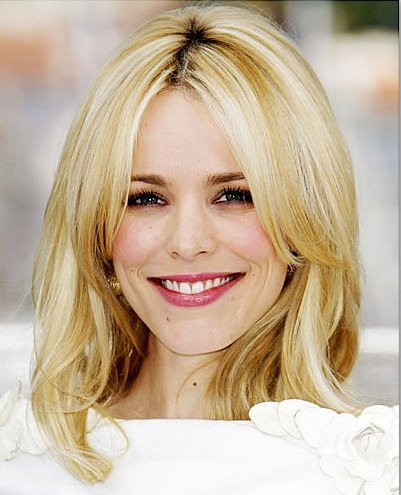 Rachel McAdams Thick Blonde Straight Hair In Long Layered Hairstyle