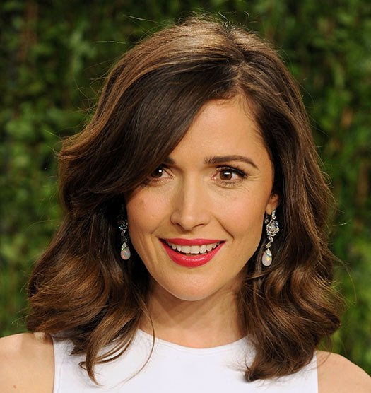 Rose Byrne Shoulder Length Brown Hair In Grown Out Bob