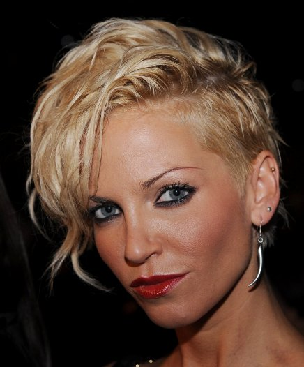 Sarah Harding's Short Blonde Fierce Edgy Undercut Hairstyle