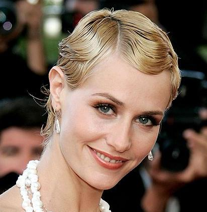 Short Blonde Hair In Vintage Finger Wave Formal Hairstyle