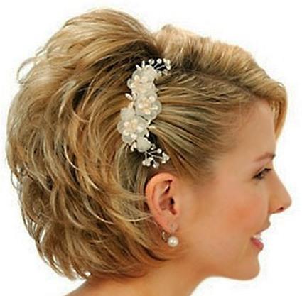 Short Blonde Wedding Hairdo Wedding Formal Careforhair