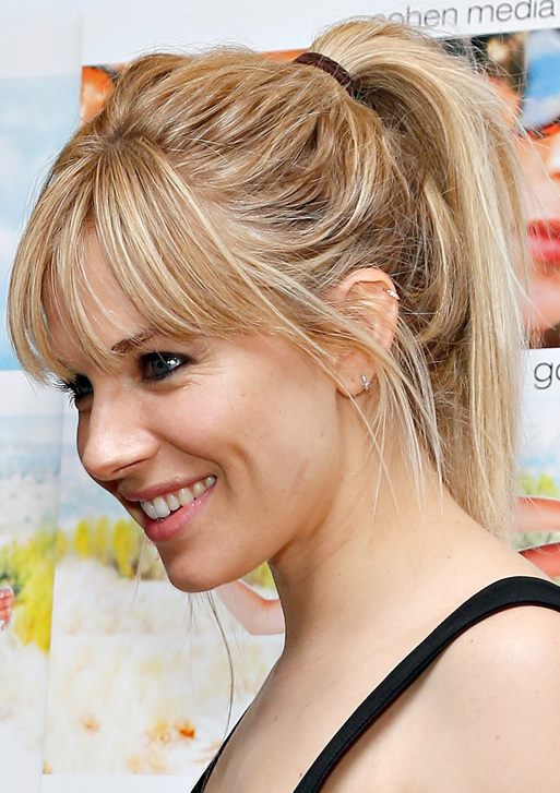 Sienna Miller In A Cute Quick Fix Messy Hairstyle