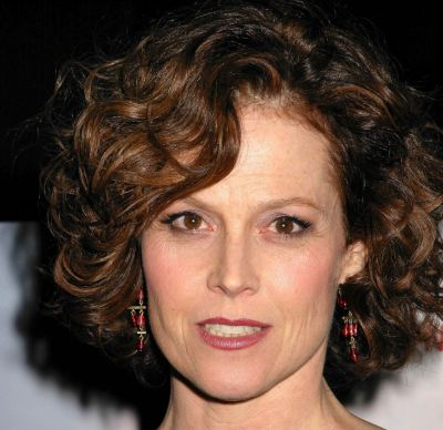 Sigourney Weaver Short Brown Curly Hairstyle Party