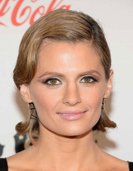Stana Katic Beautiful Retro Sleek Bob