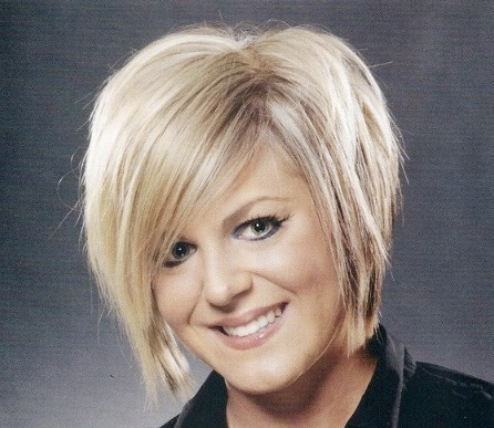 Blonde Short Wedge Hairstyle Casual Everyday