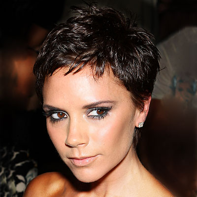 Victoria Beckham's Brunette Hair In Short Sassy Pixie Hairstyle