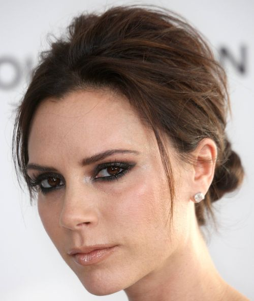 Victoria Beckham's Short Fine Hair In Chic Chignon Hairdo