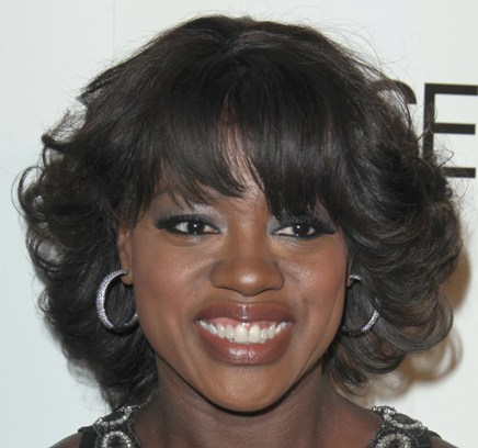 Viola Davis Black Hair In Pretty Flirty Shaggy Bob Hairstyle