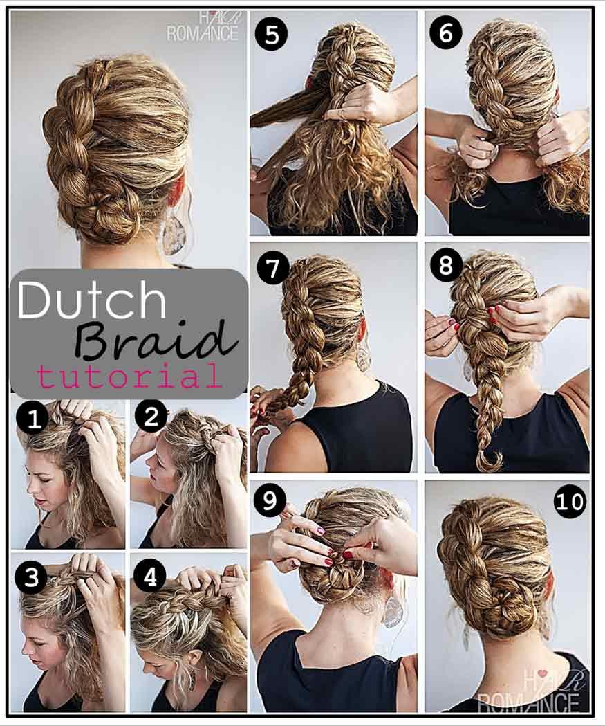 Dutch Braid Updo Hairstyle Tutorial Casual Careforhair Co Uk