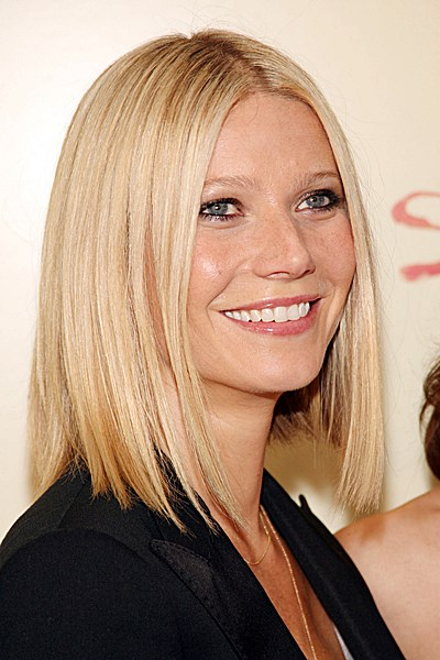 long haircuts for fine hair gwyneth paltrow sleek bob casual everyday 1764 | Gwyneth Paltrow Razor Long Bob Hair