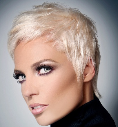 Straight Blonde Pixie Hairstyle Casual Summer Everyday